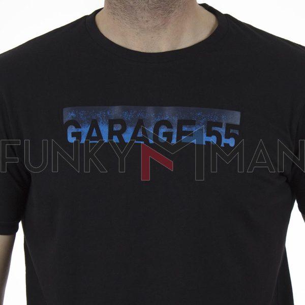 Κοντομάνικη Μπλούζα Garage55 GAM003-235-04 Μαύρο