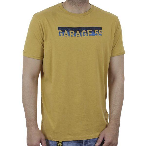 Κοντομάνικη Μπλούζα Garage55 GAM003-235-04 Μουσταρδί