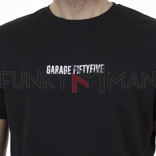 Κοντομάνικη Μπλούζα Garage55 GAM003-254-04 Μαύρο