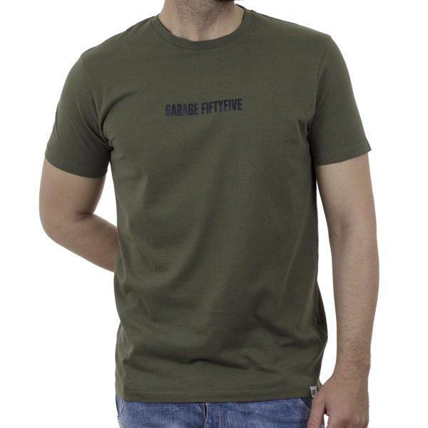 Κοντομάνικη Μπλούζα Garage55 GAM003-254-04 Χακί