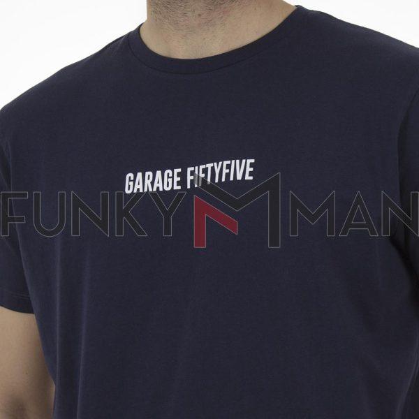 Κοντομάνικη Μπλούζα Garage55 GAM003-254-04 Navy