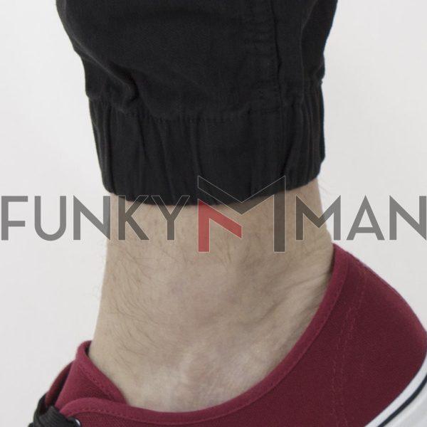 Παντελόνι Cargo Slim με Λάστιχα Garage55 GAM002-207-02 Μαύρο