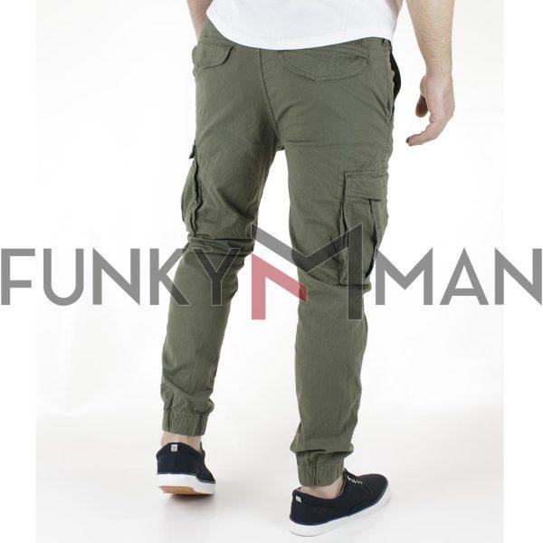 Παντελόνι Cargo Slim με Λάστιχα Garage55 GAM002-207-02 Olive