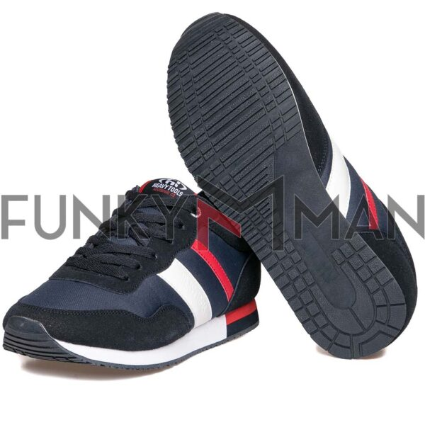Suede Leather Sneakers HEAVY TOOLS URIGAN Navy