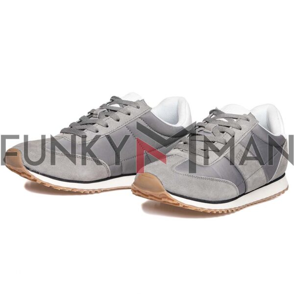 Suede Leather Sneakers HEAVY TOOLS URKUND Γκρι