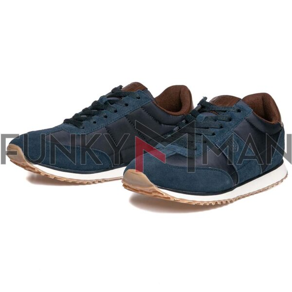 Suede Leather Sneakers HEAVY TOOLS URKUND NavySuede Leather Sneakers HEAVY TOOLS URKUND Navy