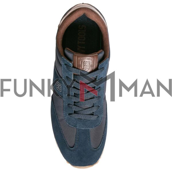 Suede Leather Sneakers HEAVY TOOLS URKUND Navy