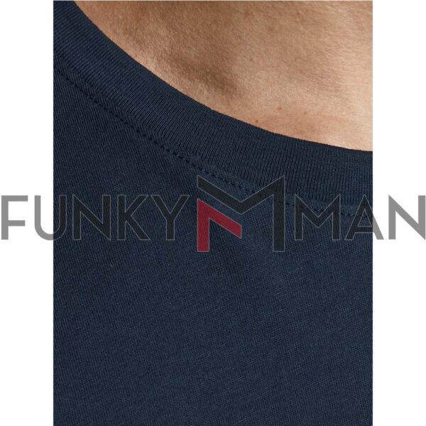 Κοντομάνικο Slim Fit T-Shirt JACK & JONES Navy