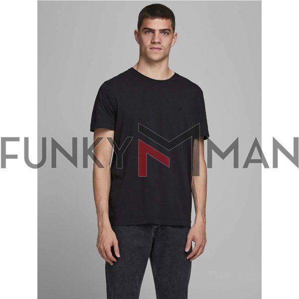 Κοντομάνικο T-Shirt JACK & JONES JJEWASHED 12175520 Μαύρο