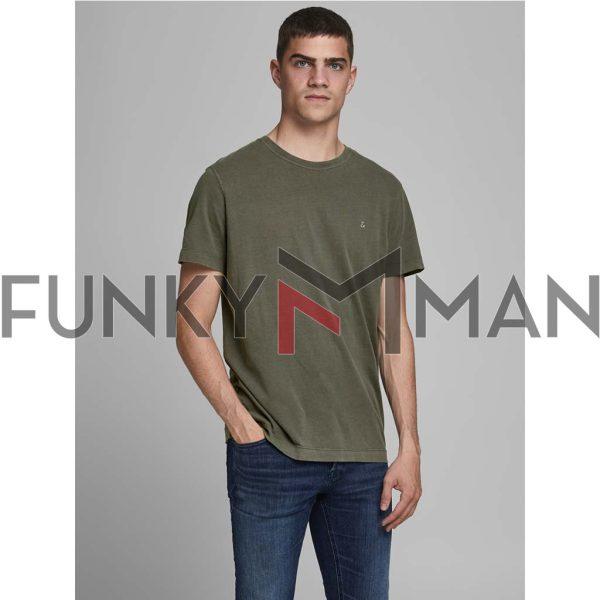 Κοντομάνικο T-Shirt JACK & JONES JJEWASHED 12175520 Forest Night Olive