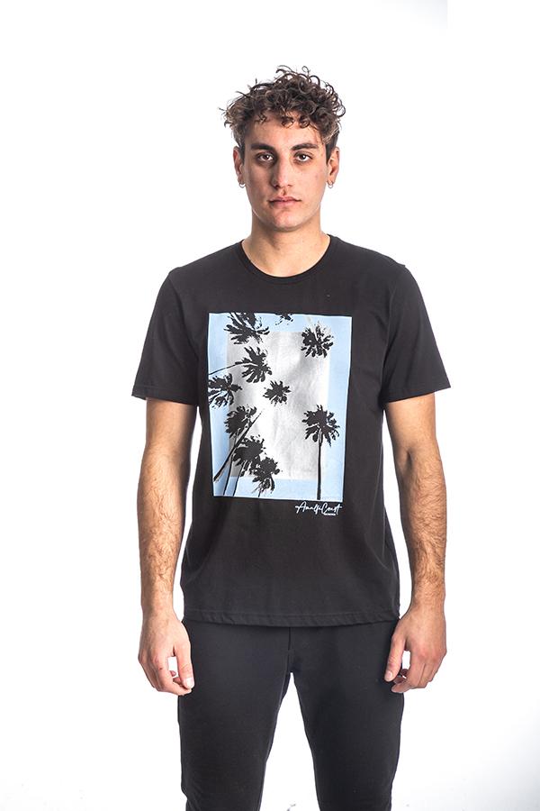 Κοντομάνικη Μπλούζα T-Shirt Paco & CO 213502 Μαύρο
