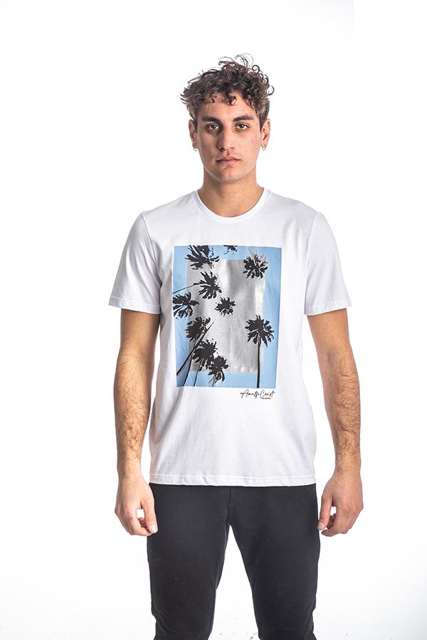 Κοντομάνικη Μπλούζα T-Shirt Paco & CO 213502 Λευκό