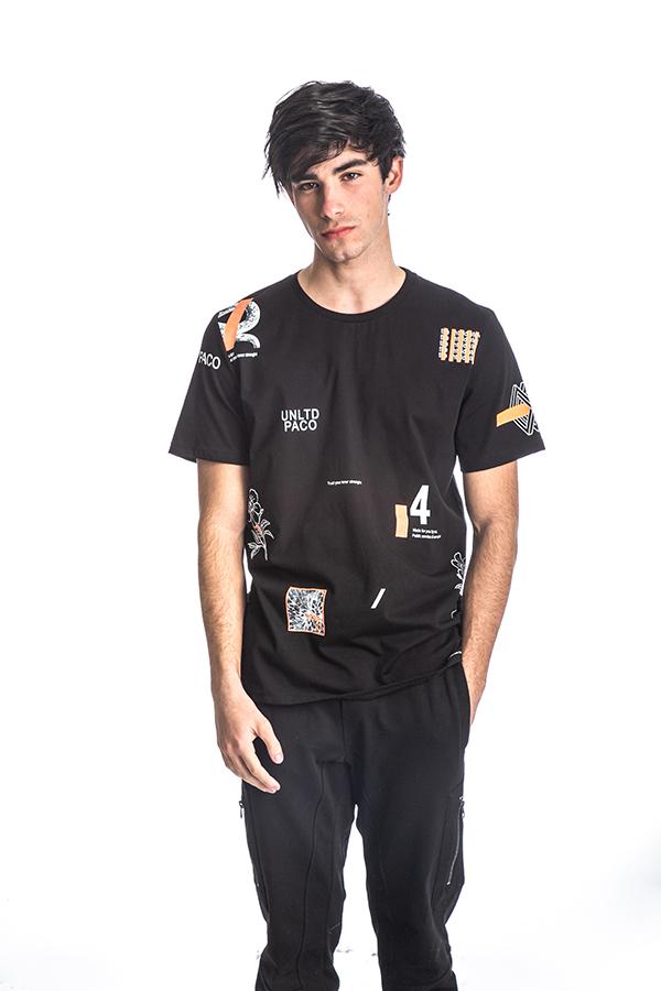 Κοντομάνικη Μπλούζα T-Shirt Paco & CO 213519 Μαύρο
