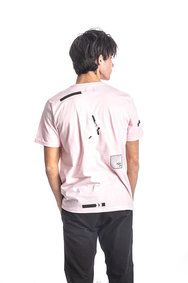 Κοντομάνικη Μπλούζα T-Shirt Paco & CO 213519 Ροζ