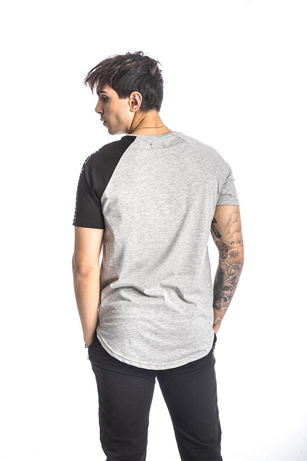Κοντομάνικη Μπλούζα T-Shirt Paco & CO 213540 Γκρι