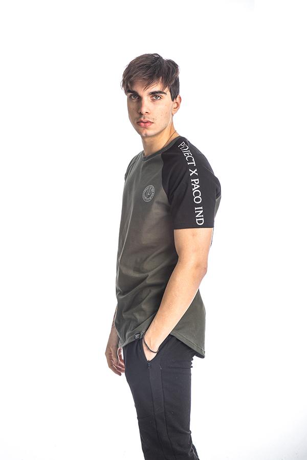 Κοντομάνικη Μπλούζα T-Shirt Paco & CO 213540 Χακί