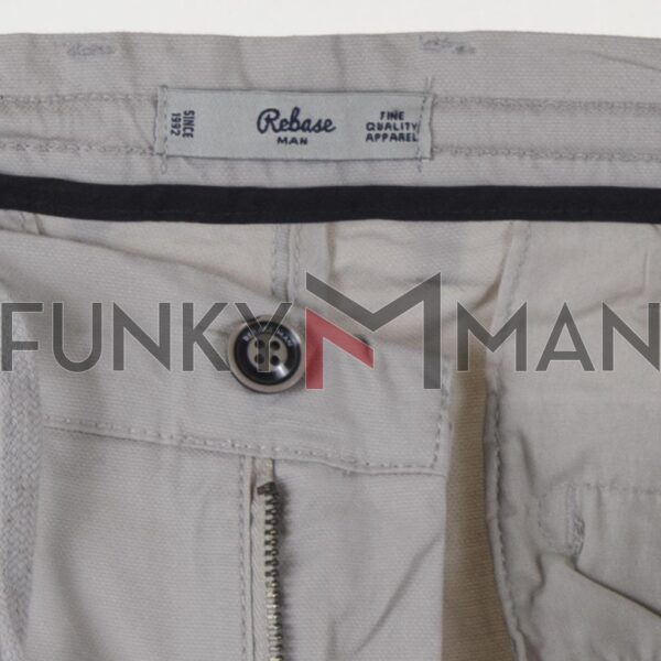 Chinos Special Fabric Βερμούδα με Λάστιχο REBASE RMSHO-125 Μπεζ