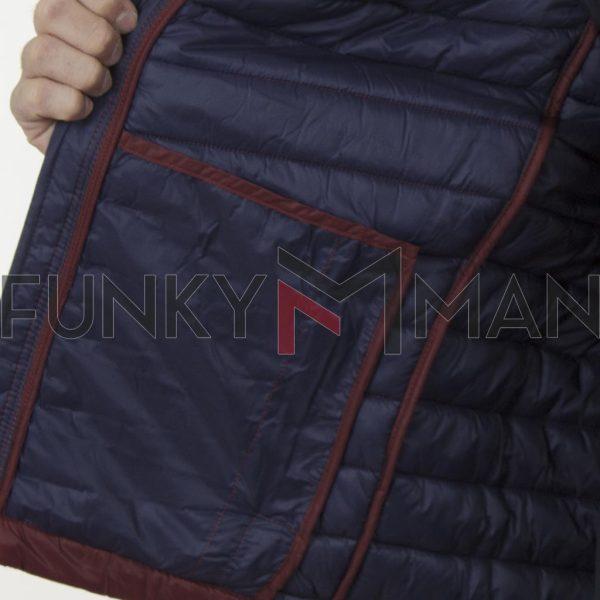 Αμάνικο Μπουφάν Puffer Vest Jacket REBASE RSMJK-08 Μπορντώ