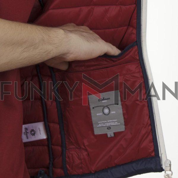 Αμάνικο Μπουφάν Puffer Vest Jacket REBASE SMJK-08 Navy