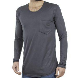 Μακρυμάνικη Μπλούζα EMANUEL NAVARO 028 σκούρο Γκρι