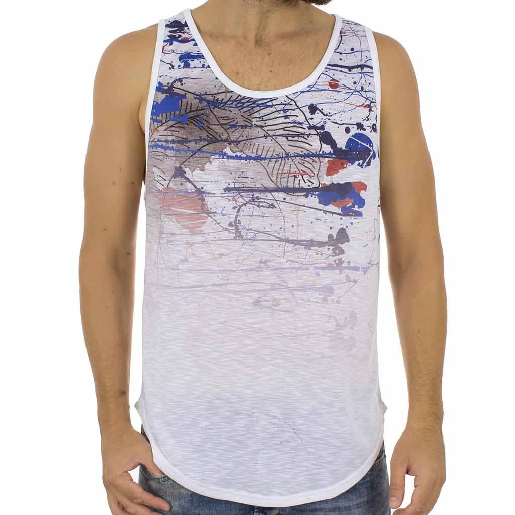 9d1f16eec322 Αμάνικο Μπλουζάκι MESH CO 002 Λευκό