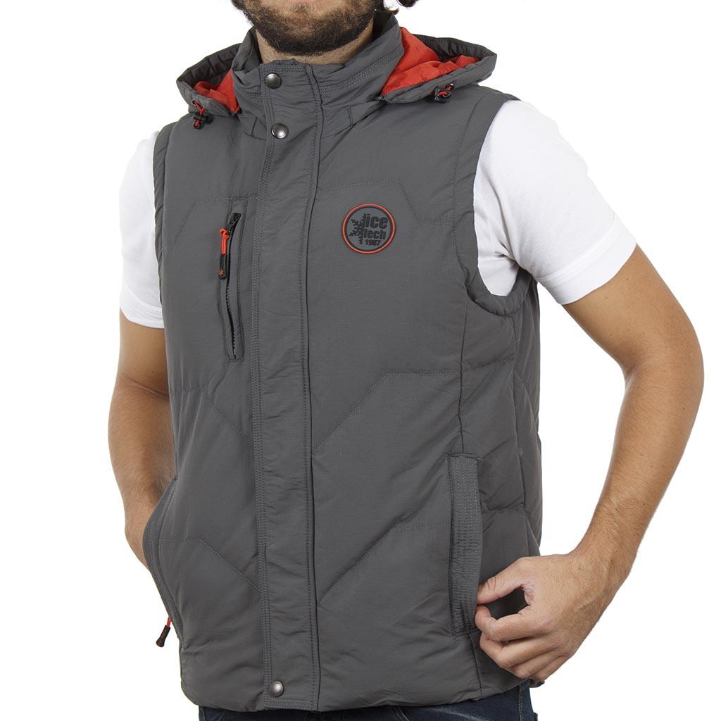 768614c60b01 Αμάνικο Μπουφάν Puffer Jacket με Κουκούλα ICE TECH G625 Γκρι ...