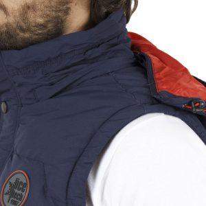 Αμάνικο Μπουφάν Puffer Jacket με Κουκούλα ICE TECH G625 Navy