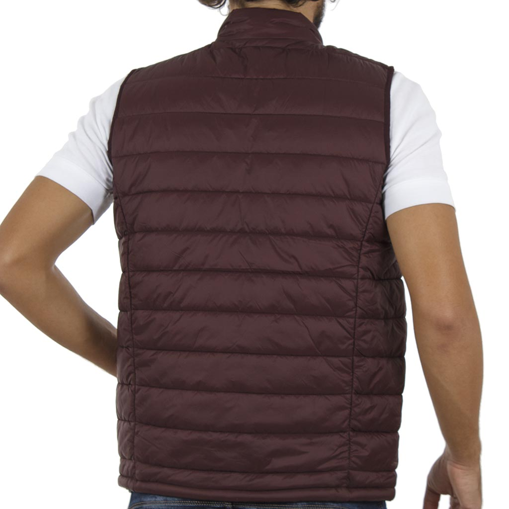 c1a87371c58b Αμάνικο Μπουφάν Puffer Vest Jacket DOUBLE SMJK-06 Μπορντώ