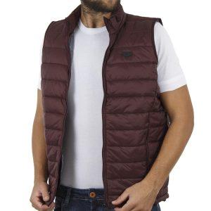 Αμάνικο Μπουφάν Puffer Vest Jacket DOUBLE SMJK-6 Μπορντό