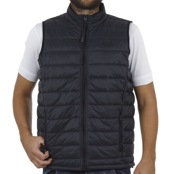 Αμάνικο Μπουφάν Puffer Vest Jacket DOUBLE SMJK-6 Navy