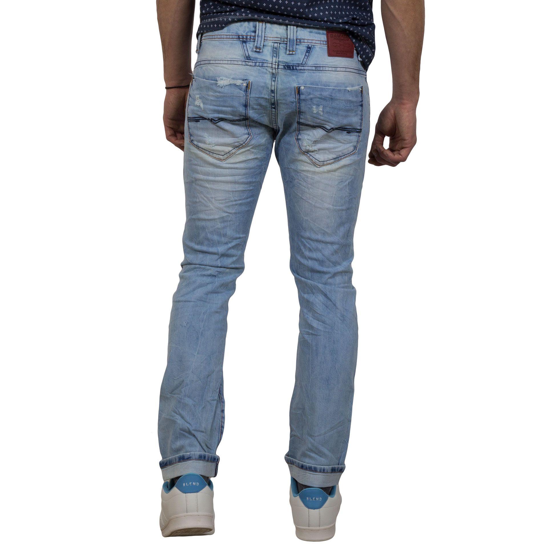 40767f2a5dd4 Τζιν Παντελόνι Damaged Jeans DM2 Γαλάζιο