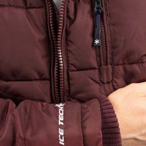 Μπουφάν Puffer Jacket ICE TECH A537 Μπορντό