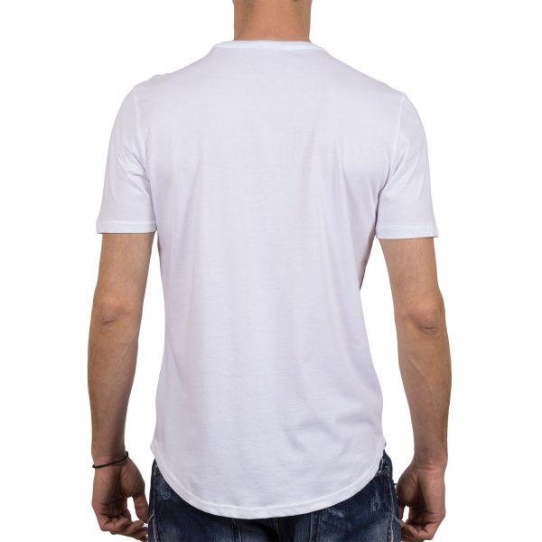 Ανδρική μπλούζα T-Shirt FreeWave Άσπρο Flower