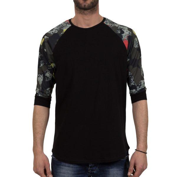 Ανδρική μπλούζα T-Shirt FreeWave Μαύρο Army