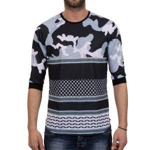 Ανδρική μπλούζα T-Shirt FreeWave Μπλέ Army