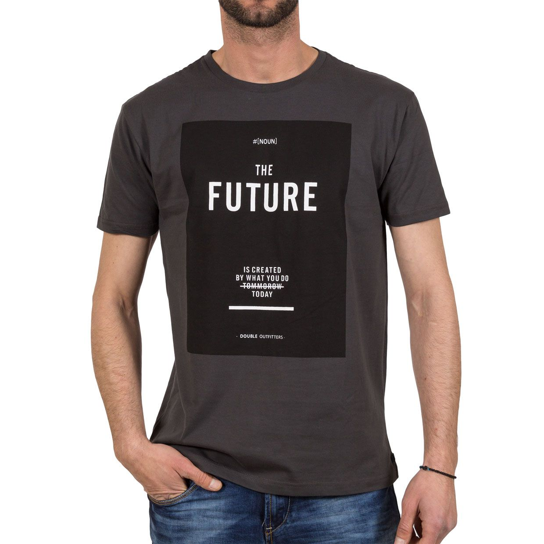 Ανδρική μπλούζα T-Shirt Double TS-36 Ανθρακί