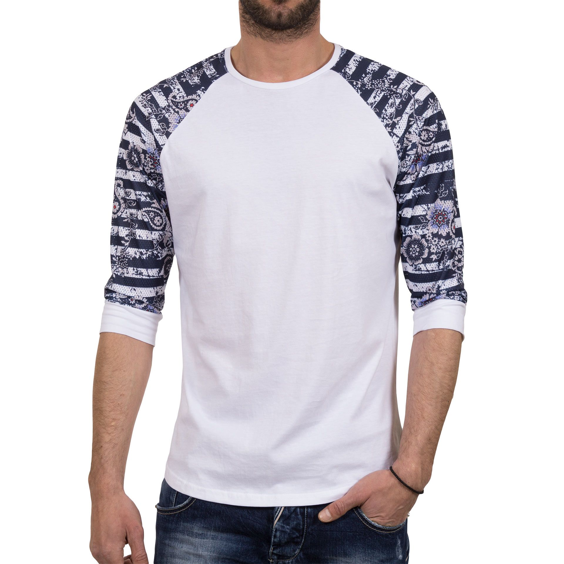 72b73765b18c Ανδρική μπλούζα T-Shirt FreeWave 71109 Άσπρο