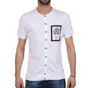 Ανδρική μπλούζα T-Shirt Free Wave 71135 Άσπρο