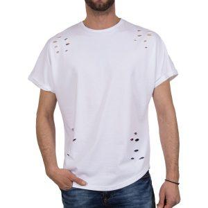 Ανδρική μπλούζα T-Shirt Free Wave 71145 Άσπρο