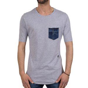 Ανδρική μπλούζα T-Shirt Cover Indian 0101 Γκρί