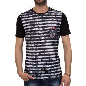Ανδρική μπλούζα T-Shirt FreeWave 71108 Μαύρο