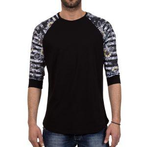 Ανδρική μπλούζα T-Shirt FreeWave 71109 Μαύρο