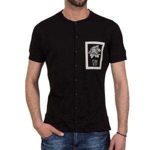 Ανδρική μπλούζα T-Shirt Free Wave 71135 Μαύρο