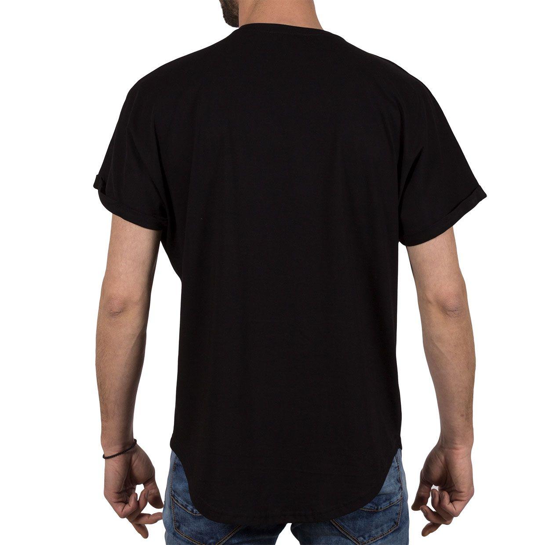 Ανδρική μπλούζα T-Shirt Free Wave 71143 Μαύρο
