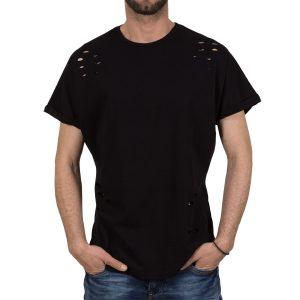 Ανδρική μπλούζα T-Shirt Free Wave 71145 Μαύρο