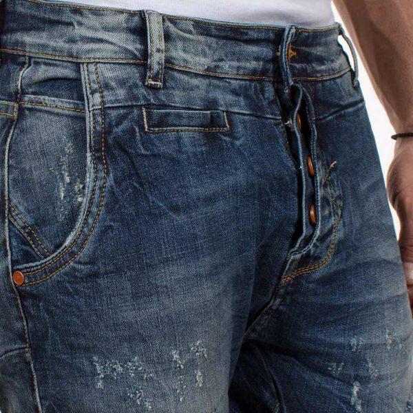 Ανδρικό Τζιν Παντελόνι με λάστιχο Cover TIGER-8272