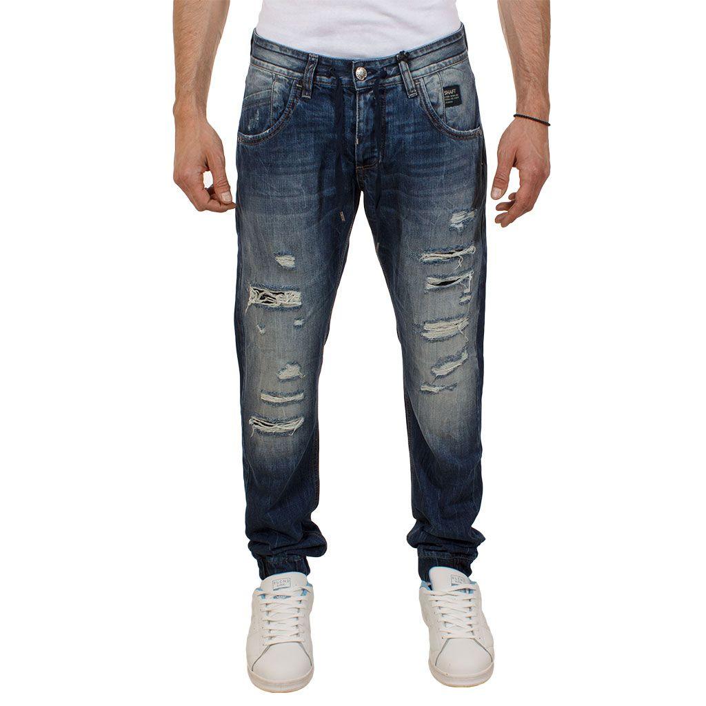 Ανδρικό Τζιν Παντελόνι με λάστιχο Shaft Jeans 5673