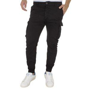 Cargo Παντελόνι με Λάστιχα Back2Jeans M60 Μαύρο