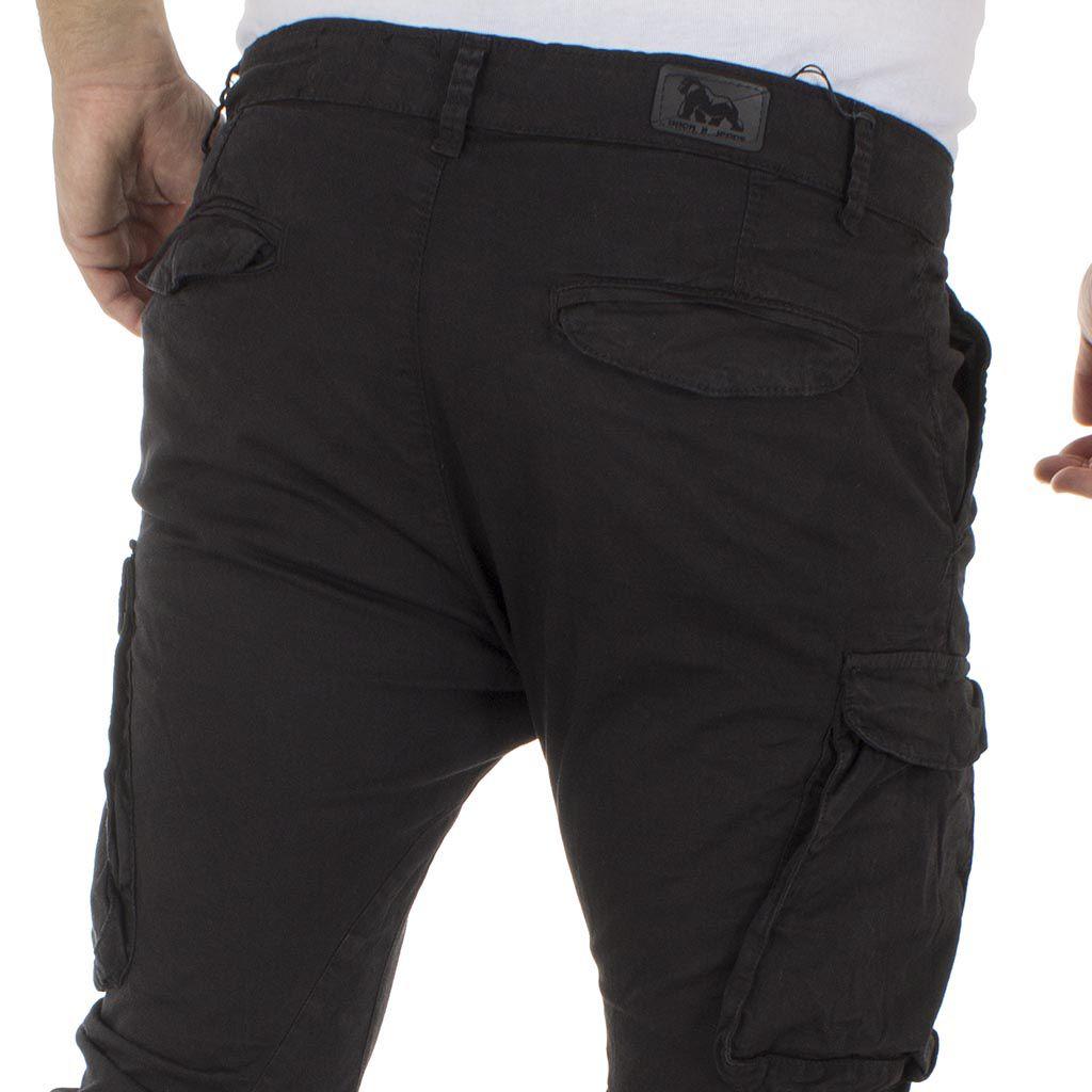 a4eada0be746 Cargo Παντελόνι με Λάστιχα Back2Jeans M60 Μαύρο