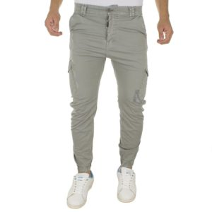 Cargo Παντελόνι με Λάστιχα Back2Jeans M64 Cement